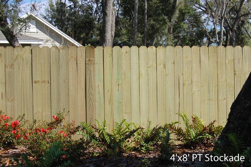 6 X 8 Dog Ear Cypress Stockade