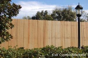6x8 Cypress Stockade
