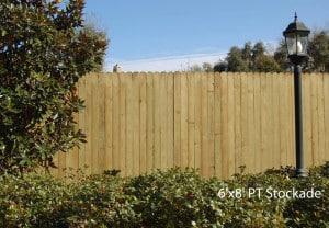6'x8' PT Stockade Fence