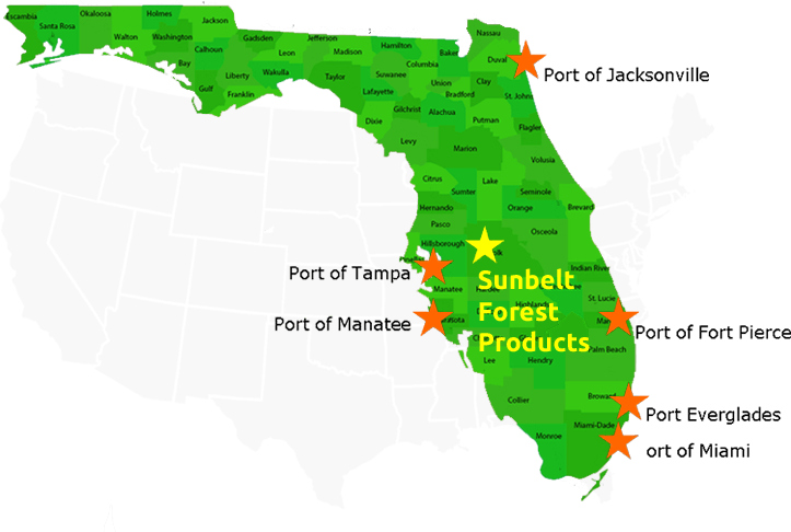 Map Sunbelt Locations