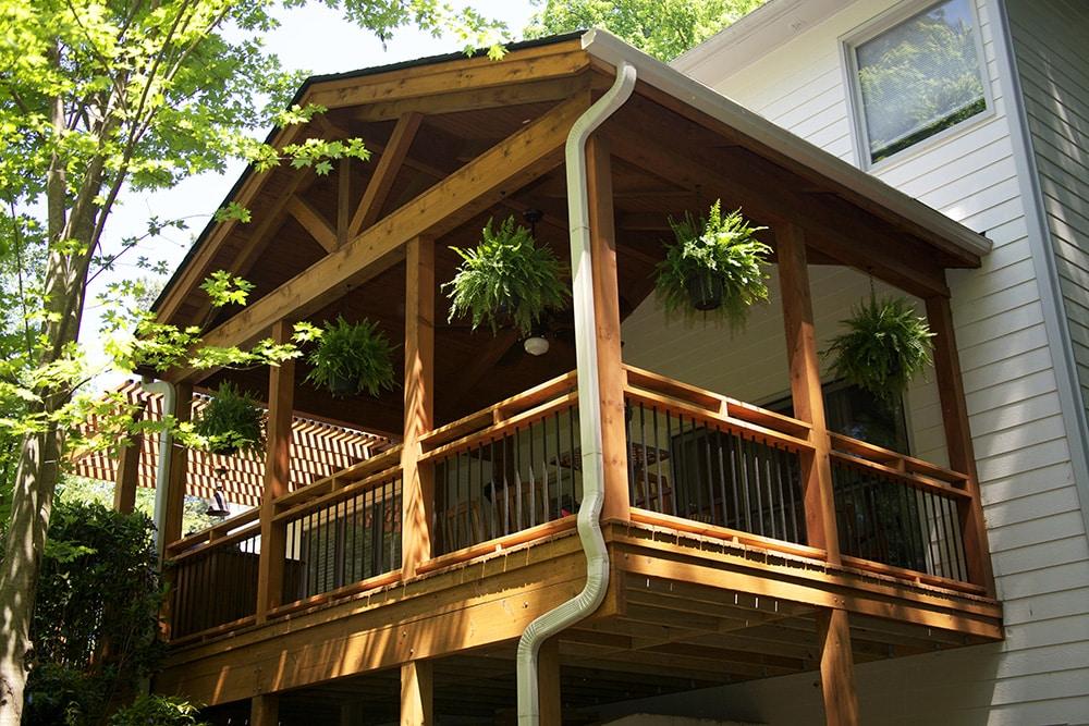 House extension BARamine®treated wood